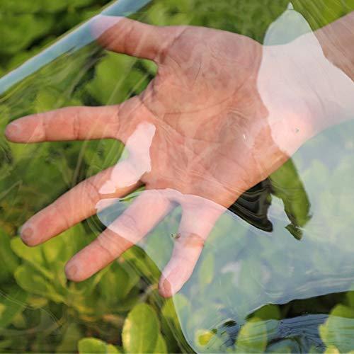 Teloni Campeggio di Pesca All'aperto Copertura Dello Strato di Terra, Telone di Vetro Trasparente Impermeabile con Occhielli, 0,35 Millimetri (Size : 1X2m)