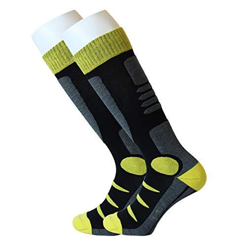 Feetalk Ski Snowboard Socks Thermal Merino Wool —Outdoor Activity Skiing Men's and Women's Socks