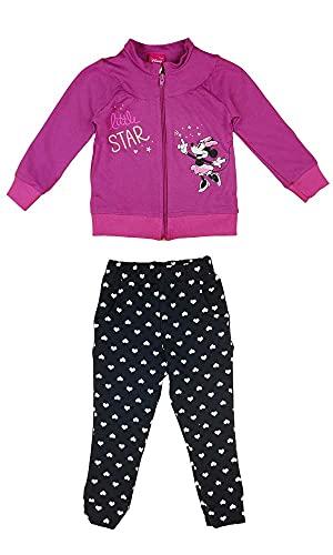 Minnie Mouse Disney Baby Mädchen Sport-Anzug in Größe 74 80 86 92 98 104 110 116 122 *Verschiedene Modelle* Baumwolle Trainings-Anzug mit Joggers Farbe Modell 1, Größe 86