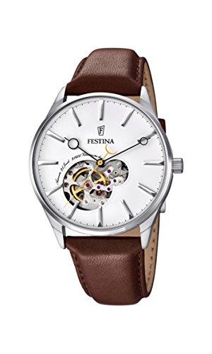 Festina Herren Analog Automatik Uhr mit Leder Armband F6846/1