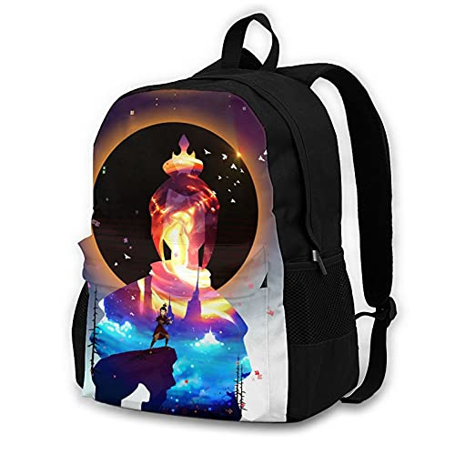 Azula Silhouette Adult Backpack Unisex Polyester Casual Backpacks Travel School Game Bag