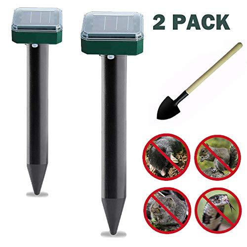Mole Repellent, 2 Pack Solar Powered Mole Repellent, Ultrasonic Pest Repeller,...