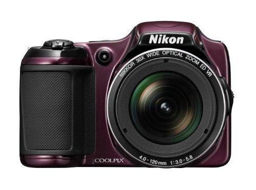 Nikon Coolpix L820 Digitalkamera (16 Megapixel, 30-fach opt. Zoom, 7,6 cm (2,7 Zoll) LCD-Monitor, Bildstabilisator) dunkelviolett