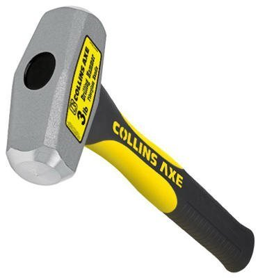 TRUPER SA DE CV - 3-Lb. Drilling Hammer, 10-In. Fiberglass Handle