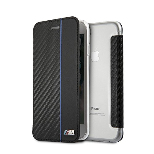 BMW M Collection Bi-Material – Carbon/PU – Booktype Case – Transparent Back Case – Navy – iPhone 6/7/8 – New Packaging