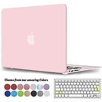 TECOOL Funda MacBook Air 13 Pulgadas (Versión: 2010-2017), Delgado Cubierta Plástico Dura Case Carcasa con Tapa del Teclado para MacBook Air 13.3 Pulgada (Modelo: A1466 / A1369) - Cuarzo Rosa