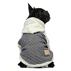 Fitwarm Knitted Pet Clothes Dog Sweater Hoodie Sweatshirts Pullover Cat Jackets White Medium