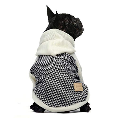 Fitwarm Knitted Pet Clothes Dog Sweater Hoodie Sweatshirts Pullover Cat Jackets White XL