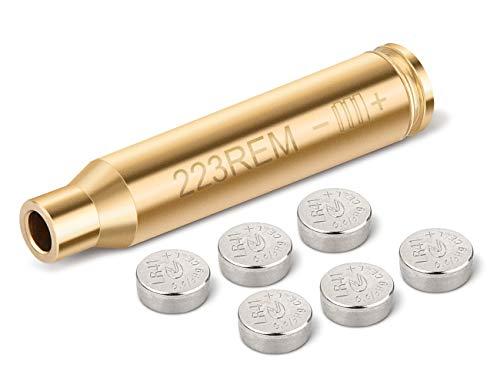 EZshoot Bore Sight 223 5.56mm Rem Gauge Laser Sight Red Dot Boresighter with 2 Sets of Batteries