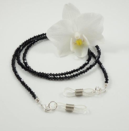 Brillenband/Brillenkette Brillenhalter mit Swarovski-Elements schwarz Handmade