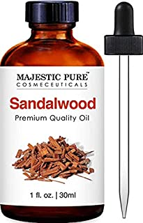 Majestic Pure Sandalwood Oil - Premium Quality Fragrance Oil - 1 fl oz