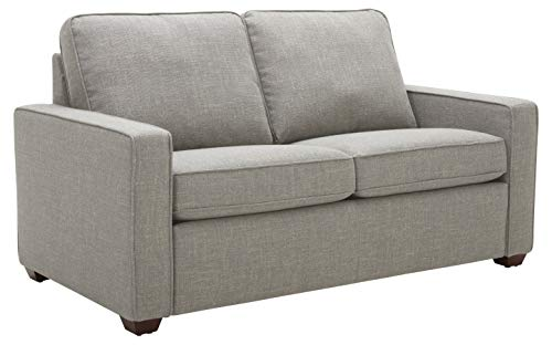 Amazon Brand – Rivet Andrews Contemporary Loveseat Sofa with Removable Cushions, 67'W, Light Grey