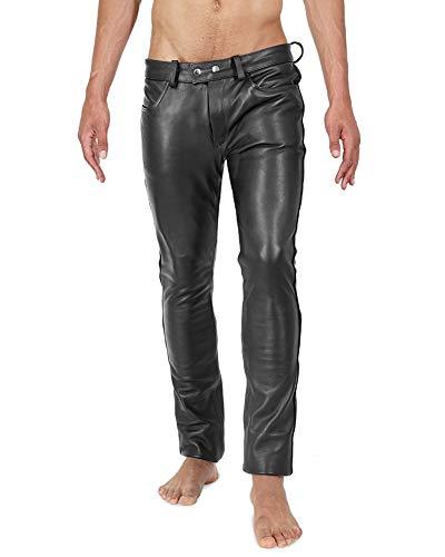 Bockle® BoB New Skinny Lederhose, Schwarz