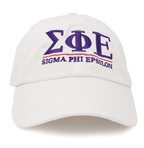 Sigma Phi Epsilon | Classic SigEp Fraternity Baseball Rush SPE Frat Hat Cap White