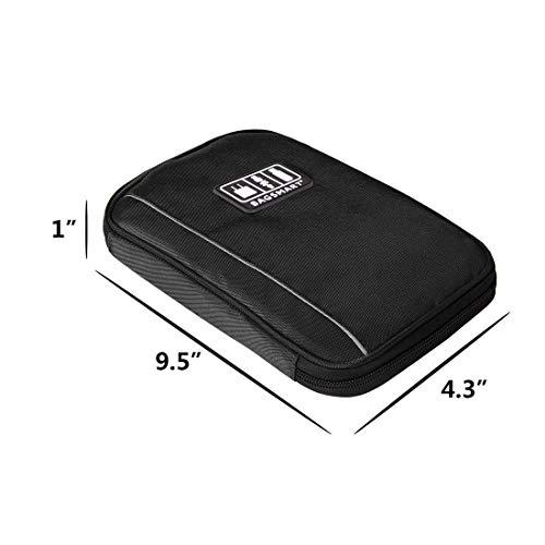 bagsmart Elektronische Tasche, Handliche Elektronik Tasche Reise für Handy Ladekabel, Powerbank, USB Sticks, SD Karten (Schwarz)