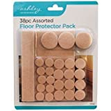 38 Piece Assorted FLOOR PROTECTOR Pack, for Chairs, Tables, Furniture, SELF ADHESIVE