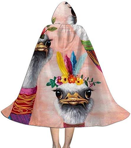 Romance-and-Beauty Capa para niños, Indio Americano, Tres Llamas, Alpaca, con Capucha, Disfraz de Halloween