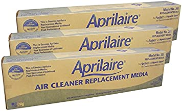 product image for Aprilaire 201 - MERV 10 Factory Replacement Air Filter Media for Model 2250 and 2200 (3-Pack)
