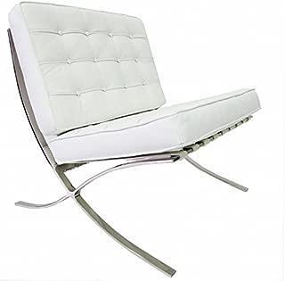 Furnwise Barcelona - Silla de piel de grano superior inspirada en Mies van der Rohe