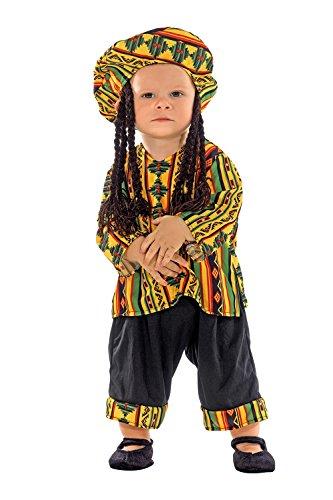 chiber - Costume da Rastafari per Bambini (13-18 Mesi)