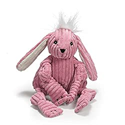 Easter Toys For Dogs - Pink Bunny HuggleHounds Knotties plush dog toy.
