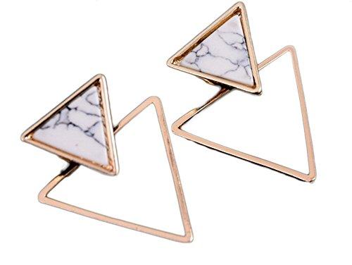 MSYOU - Pendientes triangulares con forma geométrica, color turquesa, regalo para mujer o novia