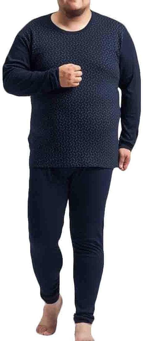 XTX Mens Stretch Warm Plus Size Breathable Top & Bottom Long John Underwear Set Two US 4XL