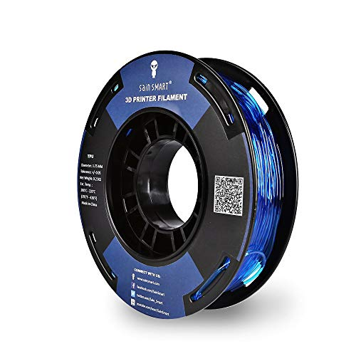 SainSmart - TPU-BLU-0.25KG1.75 SAINSMART 1.75mm 250g Flexible TPU 3D Printing Filament, Dimensional Accuracy +/- 0.05 mm (Blue)