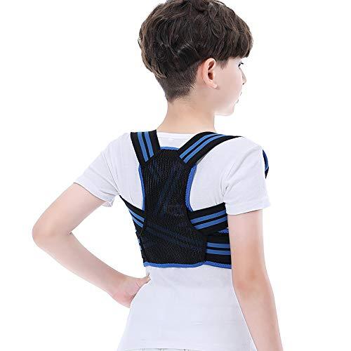 JMFHCD Geradehalter zur Haltungskorrektur Rücken Kinder Haltungstrainer Rücken für Student Rückentrainer Rückenstütze Schultergurt Nacken Rücken Schulterschmerzen Posture Corrector,Blau,M