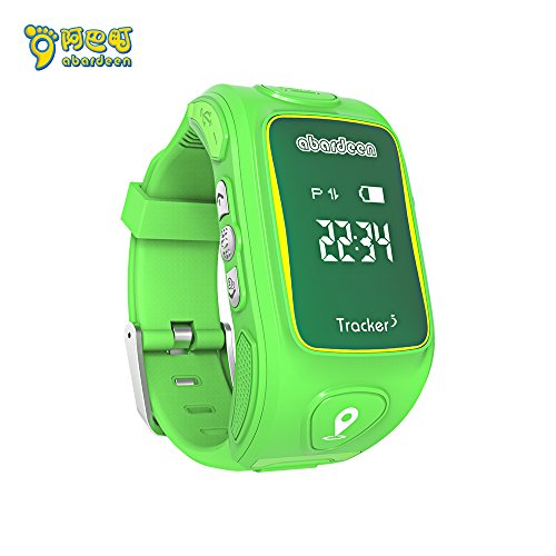 ABARDEEN Smart Kid Safe 2G GSM GPS Locator Tracker SIM for Children Anti-Lost Smartwatch Phone SOS Smart Watch for iOS Android (Green)
