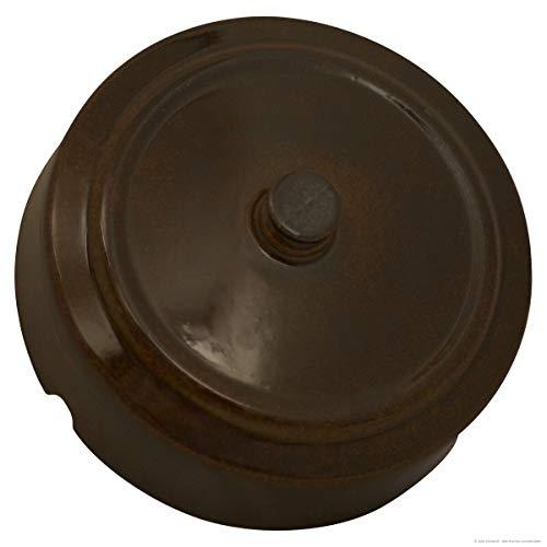 K&K, coperchio per pentola per fermentazione, ricambio originale, forma 1, da 5 e 10 l, diametro 24,5 cm, marrone lucido