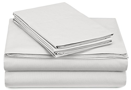 Pinzon 300 Thread Count Percale Cotton Sheet Set - Twin XL, White