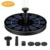 Ankway 2.5W Solar Powered Fountain Pump with Battery Backup (2019 Newest), Free Standing