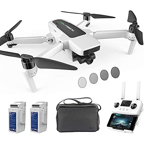 GZTYLQQ Drone con cámara 4K-60fps UHD GPS RC Drone 10KM FPV con cardán Desmontable de 3 Ejes, Modo sin Cabeza de Vuelo de 39 Minutos, Modo a Prueba de fallas de Baja Potencia