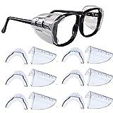 Kwartz 6 Pair Safety Eye Glasses Side Shields Clear Flexible Slip On Shield Fits Small to Medium Eyeglasses