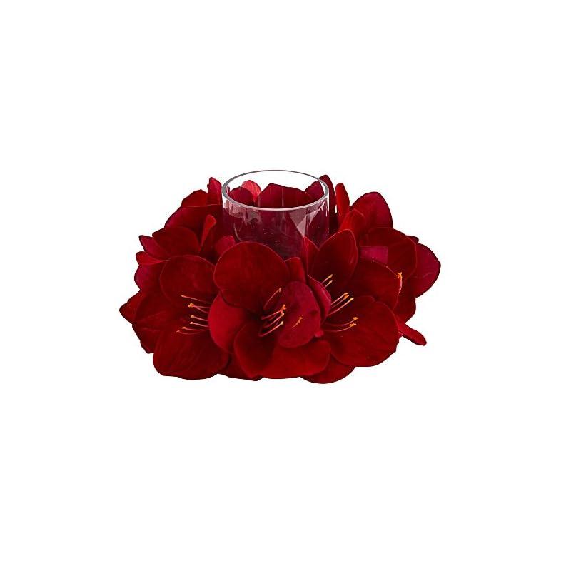 silk flower arrangements nearly natural amaryllis artificial candelabrum silk arrangements red