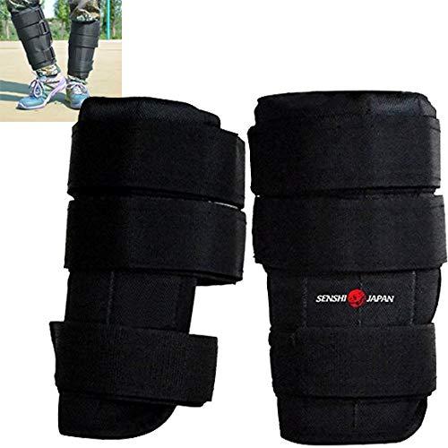 Senshi Japón tobillo pesos 15 kg ajustable [2 x 7.5 kg] - perfecto para correr, caminar, ciclismo, etc. Crossfit, culturismo, entrenamiento con pesas - apto para músculos de la pierna stregth
