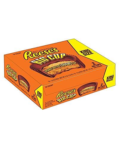 Reese's Peanut Butter Big Cup King Size - Großer Erdnussbutter-Cup-Riegel Kingsize, 16 Stück (16 x79 g)