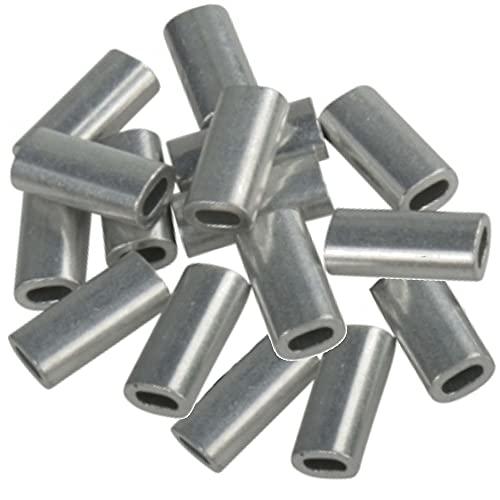 Madcat Aluminium Crimp Sleeves - 16 Quetschhülsen, Durchmesser:1.0mm