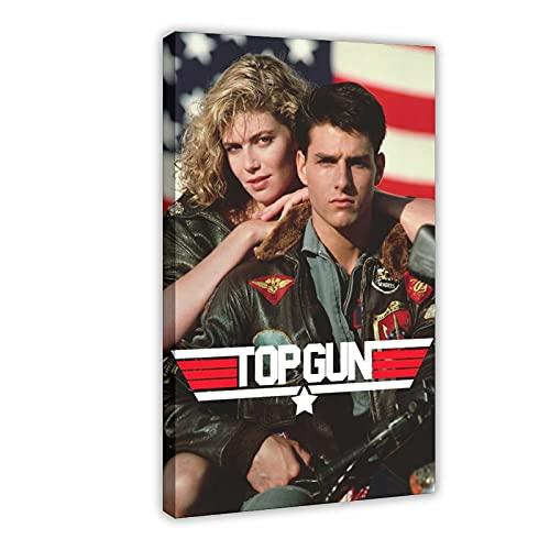 Top Gun Original Movie Poster 1986 Nostalgia Canvas Mural Wall Art Bedroom Decor Sports Landscape Office Room Decor YOLANCH Gift Frame:20×30inch(50×75cm)