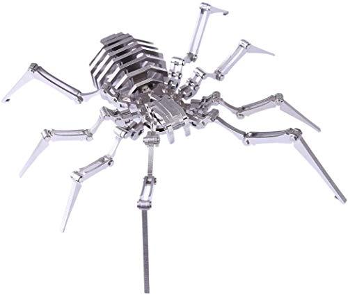 Haoun 3D Metal Puzzle Brain Teaser, DIY Assemble Detachable Spider Model Kit Jigsaw Puzzle Toy Desk Ornament