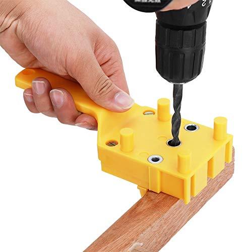 ドリルガイド 穴あけガイド ドリルスタンド 丸棒 木ダボ用 ABS樹脂 木工ツール 垂直穴あけ 補助