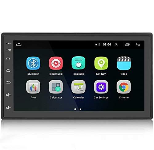 Android 9.1 Autoradio 2 Din Bluetooth GPS, 7 Pouces HD1080P Écran Tactile Capacitif Navigation de MP5 Voiture Supporte BT WiFi Radio FM Lien Miroir avec Caméra de recul Gratuite