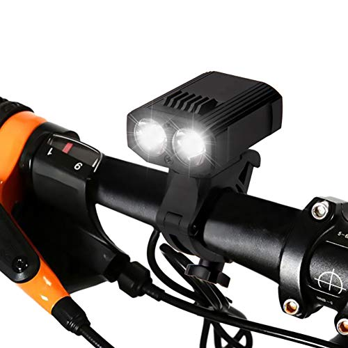 Bike Front Light Cycle Night Riding Double Lights Super Bright Mountain Bike Headlights Black