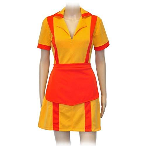 Lilongjiao 2 Broke Girls: traje de mucama cosplay Mujeres camarera uniforme Fiesta de disfraces, (S-L)