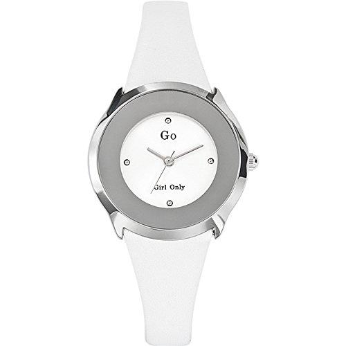 GO Girl Only - Reloj analógico para Mujer de Cuero Blanco