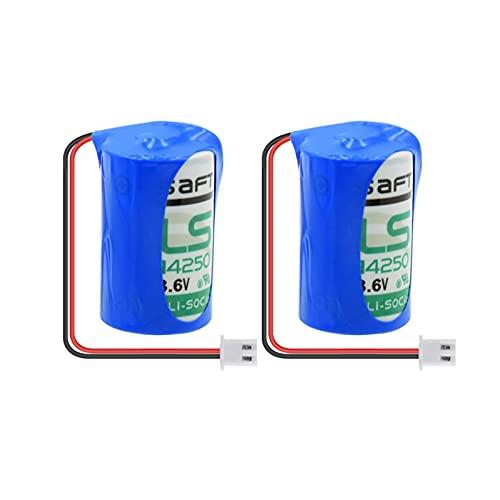 TTCPUYSA BateríAs De 3.6v 1200mah 14250 Li Socl2, Reemplazo De Celda + Enchufe para Servidores MáQuina De Impresión Medidor De Agua 2pcs