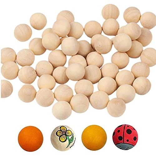 YYAOO 500 bolas de madera redondas sin terminar de 10 mm/0.39 pulgadas, mini bolas de madera natural para manualidades, decoración hecha a mano