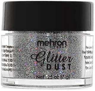 Mehron Makeup GlitterDust (.25 oz) (Holographic Silver)