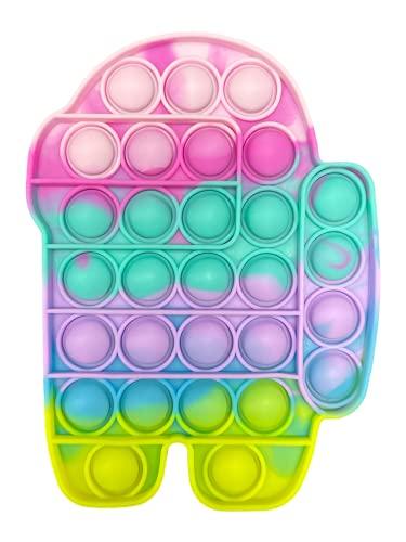 MAGIC SELECT Juguete Sensorial antiestrés de Silicona, Juego de explotar Burbujas, Push Pop Bubble, Aliviar estrés y ansiedad, Juego para niños, Autismo y Mayores. (001 Among)